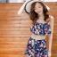 ชุดว่ายน้ำทูพีช สีกรม สายคล้องคอ ดีเทลลายผีเสื้อ และ ดอกไม้สีหวาน กระโปรงแต่งระบายน่ารัก มากๆค่ะ thumbnail 6