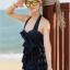 ชุดว่ายน้ำวันพีช สีกรม สายคล้องคอ ผูกโบว์น่ารัก ดีเทลช่วงตัวชุดเป็นชั้นๆ โชว์แผ่นหลังเซ็กซี่ๆ thumbnail 2