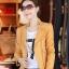 เสื้อแจ็คเก็ต เสื้อหนังแฟชั่น พร้อมส่ง สีเหลือง หนังด้าน มาดเซอร์ คอจีน ดีเทลด้วยปกโฉบเฉี่ยว สุดเท่ห์ thumbnail 2