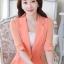 เสื้อสูทแฟชั่น เสื้อสูทสำหรับผู้หญิง พร้อมส่ง สีส้ม ผ้าคอตตอน 100 % เนื้อดี คุณภาพงานพรีเมี่ยม งานตัดเย็บเนี๊ยบ ไม่มีซับในระบายอากาศได้ค่ะ thumbnail 2