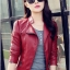เสื้อแจ็คเก็ต สีแดง คอจีน พร้อมส่ง ดีเทลด้วยปกโฉบเฉี่ยว แต่งกระเป๋าหลอกด้วยซิบรูด สุดเท่ห์ thumbnail 4
