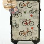 กระเป๋าเดินทางวินเทจ รุ่น vintage classic ลายจักรยาน ขนาด 22 นิ้ว