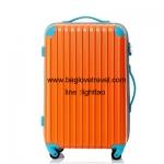 กระเป๋าเดินทางล้อลากไฟเบอร์ รุ่น colorful ส้มขอบฟ้า ขนาด 20/24/28 นิ้ว