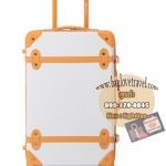 กระเป๋าเดินทางวินเทจ รุ่น colorful ขาวคาดน้ำตาล ขนาด 20 นิ้ว