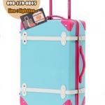 กระเป๋าเดินทางวินเทจ รุ่น colorful ฟ้าคาดชมพู ขนาด 20 นิ้ว