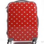 กระเป๋าเดินทางไฟเบอร์ รุ่น ลายจุด แดงลายจุดขาว ขนาด 22 นิ้ว