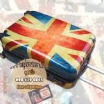 กระเป๋าเดินทางแฟชั่น แนวๆ ลายธงชาติอังกฤษ ขนาด 20 นิ้ว