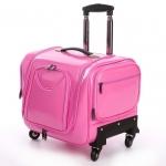 กระเป๋าเดินทางใบเล็ก รุ่น beauty สีชมพู ขนาด 16 นิ้ว