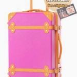 กระเป๋าเดินทางวินเทจ รุ่น colorful ชมพูคาดส้ม ขนาด 20 นิ้ว