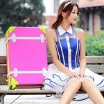 กระเป๋าเดินทางวินเทจ รุ่น colorful ไซต์ 18 นิ้ว