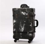 กระเป๋าเดินทางวินเทจ รุ่น เรโทรยีนส์ สีดำ ไซต์ 22 นิ้ว