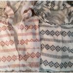 B L U E เสื้อคลุมผ้าฝ้ายพิมพ์ลาย มี hood สไตล์ญี่ปุ่น