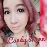 สั้น/Power -400 Candy Brown Dreamcon คอนแทคเลนส์ธรรมชาติ