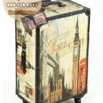 กระเป๋าเดินทางวินเทจ รุ่น vintage classic ลายเมืองลอนดอน ขนาด 22 นิ้ว