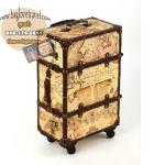 กระเป๋าเดินทางวินเทจ รุ่น vintage classic ลายแผนที่ ขนาด 22 นิ้ว