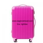 กระเป๋าเดินทางล้อลากไฟเบอร์ รุ่น colorful ชมพูขอบชมพูอ่อน ขนาด 20/24/28 นิ้ว