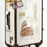 กระเป๋าเดินทางวินเทจ รุ่น vintage classic ลายเมืองอิตาลี ขนาด 22 นิ้ว