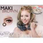Maki Brown Dreamcolor1 คอนแทคเลนส์ ขายส่งคอนแทคเลนส์ Bigeyeเกาหลี ขายส่งตลับคอนแทคเลนส์