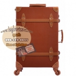 กระเป๋าเดินทางล้อลากวินเทจ รุ่น vintage retro สี กาแฟ เซ็ตคู่ ขนาด 12+22 นิ้ว