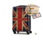 กระเป๋าเดินทางแฟชั่น แนวๆ ลายธงชาติอังกฤษสีซีด ขนาด 20 นิ้ว