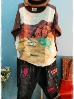 เสื้อลำลอง สกรีนลาย สีสด ผ้านิ่ม