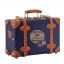 กระเป๋าเดินทางวินเทจ รุ่น retro brown น้ำเงินคาดน้ำตาล ขนาด 12 นิ้ว thumbnail 1