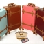 กระเป๋าเดินทางล้อลากวินเทจ รุ่น vintage retro สี Blue เซ็ตคู่ ขนาด 12+24 นิ้ว thumbnail 20
