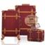 กระเป๋าเดินทางล้อลากวินเทจ รุ่น vintage retro สีช็อกโกแลต เซ็ตคู่ ขนาด 12+22 นิ้ว thumbnail 1