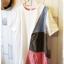 Beargirl เสื้อยืดสไตล์ญี่ปุ่น แต่งลายผ้าสลับสุดชิค thumbnail 2