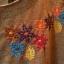 เดรสผ้ายืดเนื้อนิ่ม ต่อผ้าลายสก้อต ปักลายดอกไม้ สีน้ำตาล thumbnail 6
