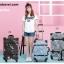 กระเป๋าเดินทางวินเทจ รุ่น เรโทรยีนส์ สีฟ้าขาว thumbnail 3