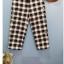 กางเกงผ้าฝ้ายเนื้อนิ่ม ขา 9 ส่วน ลายสก้อตสีดำ thumbnail 1