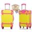 กระเป๋าเดินทางวินเทจ รุ่น colorful เหลืองคาดชมพู ขนาด 18 นิ้ว thumbnail 2