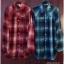 SM2 เสื้อเชิ้ตผ้าฝ้ายสไตล์ลำลองญี่ปุ่น ลายสก้อตสีสวยสด thumbnail 7