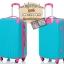 กระเป๋าเดินทางล้อลากไฟเบอร์ รุ่น colorful ฟ้าเข้มขอบชมพู ขนาด 20/24/28 นิ้ว thumbnail 2