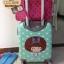 """กระเป๋าเดินทางไฟเบอร์ PC+ABS Lovely Polka dot สีเขียวพาสเทล ลายจุดขาว (ไซต์ 18"""",22"""",26"""") thumbnail 5"""