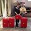 กระเป๋าเดินทางวินเทจ รุ่น spring colorful แดงคาดแดงล้วน ขนาด 24 นิ้ว thumbnail 2