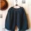 Bugucun กางเกงขา 3 ส่วน ผ้าฝ้ายเนื้อนิ่ม สีเขียวเข้ม thumbnail 1