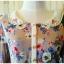 QJH เดรสผ้าซาตินลายดอกไม้สไตล์วินเทจ thumbnail 2