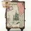 กระเป๋าเดินทางวินเทจ รุ่น vintage classic ลายเมืองยุโรป ขนาด 24 นิ้ว thumbnail 3