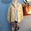 เสื้อแจ๊กเก๊ต มี hood พิมพ์ลาย ABC สีน้ำตาล thumbnail 1