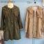 เสื้อคลุม overcoat แต่งลูกไม้ เอวรูด( สีน้ำตาล ) thumbnail 1