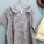 cloudnine เสื้อคอบัว ผ้าทอริ้วสีเทา thumbnail 2