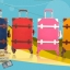 กระเป๋าเดินทางวินเทจ รุ่น vintage retro ลายเสือดาว เซ็ตคู่ ขนาด 12+24 นิ้ว thumbnail 15