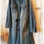Maxi denim dress เดรสยีนส์ตัวยาวสีเข้มฟอกเท่ห์ thumbnail 2