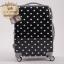 """กระเป๋าเดินทางไฟเบอร์ PC+ABS Lovely Polka dot สีดำ ลายจุดขาว (ไซต์ 18"""",22"""",26"""") thumbnail 1"""
