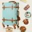 กระเป๋าเดินทางล้อลากวินเทจ รุ่น vintage retro สี Blue เซ็ตคู่ ขนาด 12+24 นิ้ว thumbnail 12