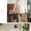 Megu เสื้อกั๊ก ผ้าไหมพรมนิ่ม แต่งลูกไม้ถัก thumbnail 7