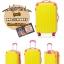กระเป๋าเดินทางล้อลากไฟเบอร์ รุ่น colorful เหลืองขอบชมพู ขนาด 20/24/28 นิ้ว thumbnail 2