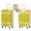 กระเป๋าเดินทางวินเทจ รุ่น colorful เขียวมะนาวคาดชมพูอ่อน ขนาด 24 นิ้ว thumbnail 2
